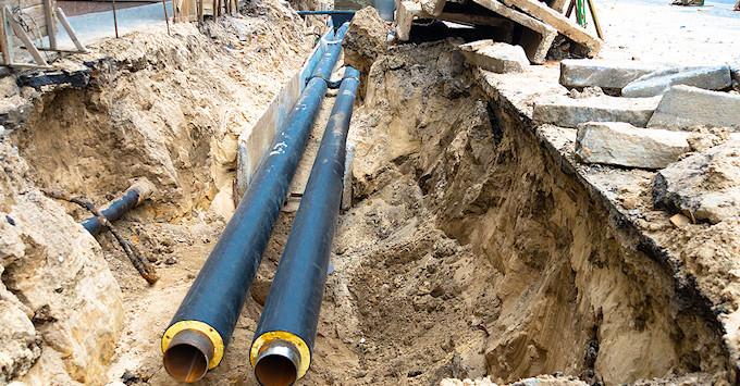 pipes underground